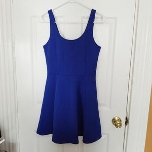 H&M royal blue dress size 8 ribbed texture